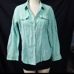 Banana Republic Turquoise Button Front Shirt